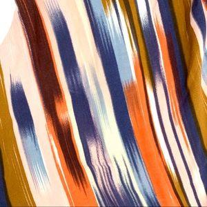 Band of Gypsies Sweaters - Band of Gypsies Striped Fringe Kimono extra small